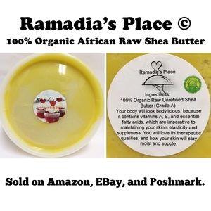 100% Organic Raw African Shea Butter 8 oz